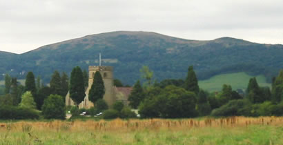 Colwall Church and Malvern Hills