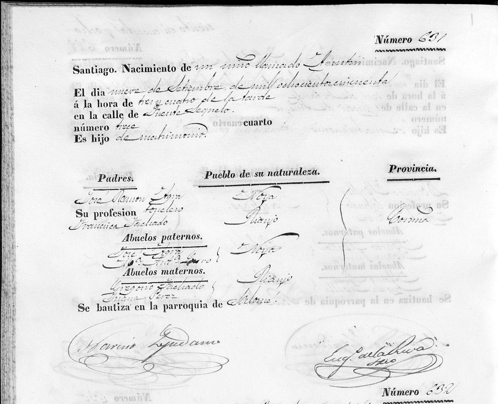 Tips on how to trace your galician genealogy the genealogy corner the birth certificate aiddatafo Image collections