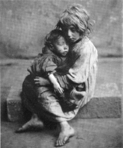 Poverty may well have been among your ancestors' reasons for giving a child up for adoption. Source: http://grayee.blogspot.com/2010/11/2010-christmas-carol.html