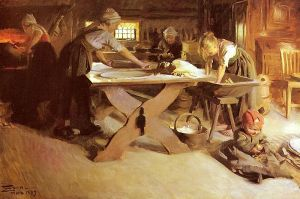 """Bread baking"" (1889) by Anders Zorn. (Source: Wikipedia)"
