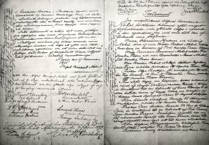 The last will and testament of Alfred Nobel, written in 1895. (Source: Wikipedia)