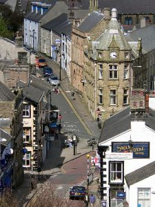 Clitheroe, in Lancashire, where Rose Allen lived with her husband Marmaduke Bleazard.
