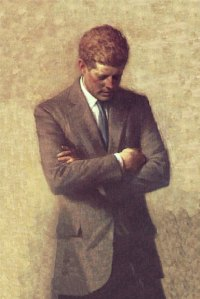 The official White House portrait of JFK, courtesy of American Heritage.
