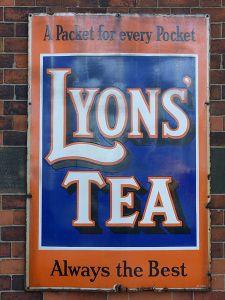 A Lyons Tea sign (wikipedia)