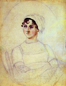 Jane Austen, portrayed by her sister Cassandra.