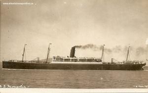 El SS Mongolia, según una postal de 1908.