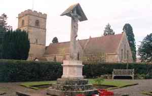 The Colwall War Memorial, outside Colwall church. Photo copyright colwallchurch.org.