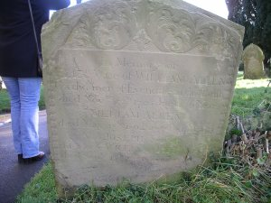 The grave of William Allen and his wife Elizabeth. Their age and date of death offer many clues when tracking down a plausible birth year - and discarding other possibilities! (Copyright of The Genealogy Corner)