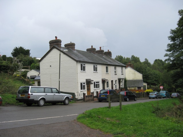 The row of cottages known in the 1800's as Allens Cottages.
