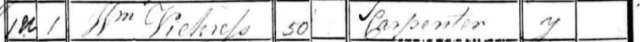 William Vickress, 1841 Census
