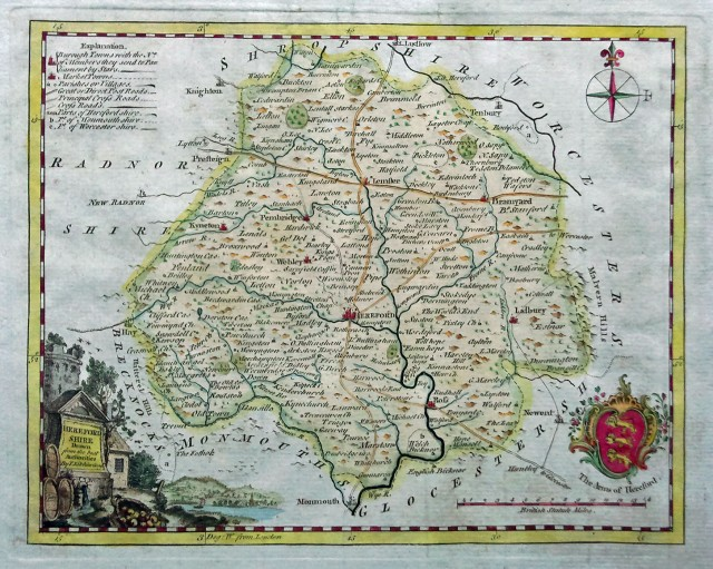 Herefordshire, in western England, where many of my paternal grandmother's ancestors lived as far back as the 1600's.