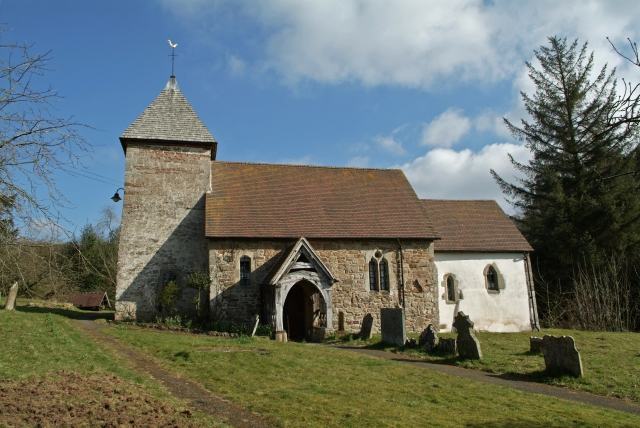 The church of St John the Baptist, Hope Bagot in Shropshire where the Mounds lived in the early 1800's.